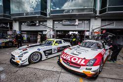 #84 HTP Motorsport 梅赛德斯 SLS AMG GT3: 哈罗德·普里马, 尼科·韦尔东克, 伯纳德·施奈德, #85 HTP Motorsport 梅赛德斯 SLS AMG GT3: