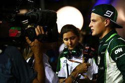 卡特汉姆F1车队车手马库斯·埃里克森和媒体