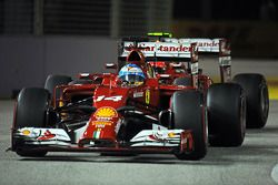 Fernando Alonso, Ferrari F14-T y Kimi Raikkonen, Ferrari F14-T