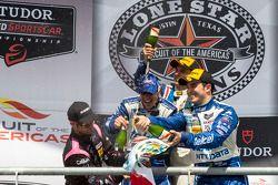 P1 podium: winners Scott Pruett, Memo Rojas