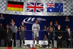 Lewis Hamilton, Sebastian Vettel et Daniel Ricciardo