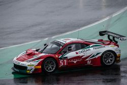 #51 AF Corse Ferrari 458 Italia: Filipe Barreiros, Peter Mann, Francisco Guedes : Perte de contrôle