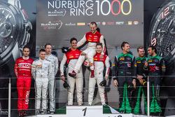 Pro Cup pódio: vencedores Cesar Ramos, Laurens Vanthoor, Christopher Mies, segundo lugar Maximilian