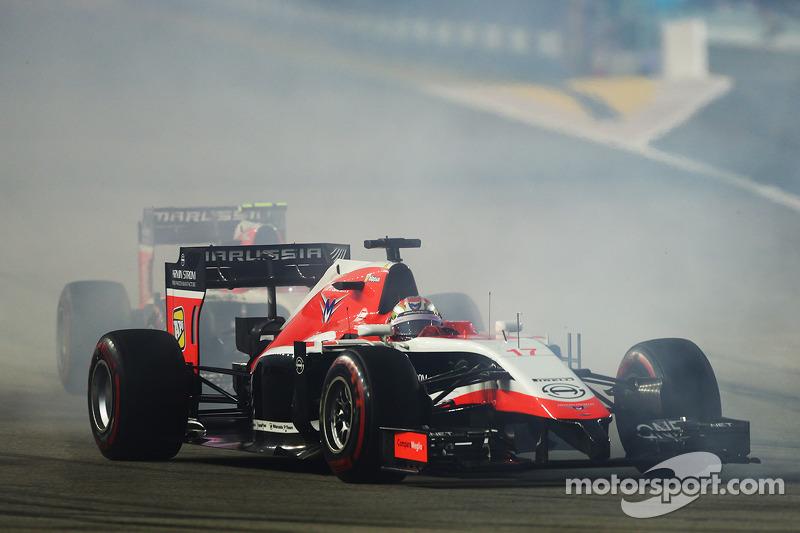 Jules Bianchi, Marussia F1 Team MR03 alla partenza della gara