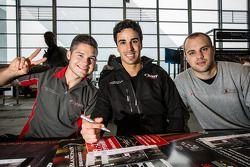 Autograph session: Christopher Mies, Cesar Ramos, Laurens Vanthoor