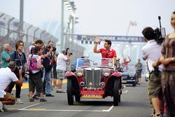 Jules Bianchi, Marussia F1 Team en el desfile de pilotos