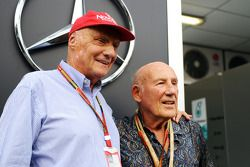 Niki Lauda, Mercedes Non-Executive Chairman with Stirling Moss