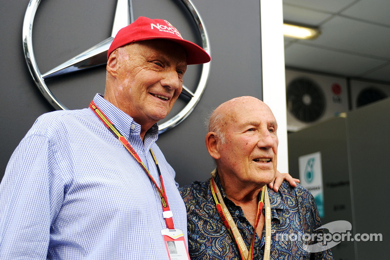 Niki Lauda, ​​Mercedes met Stirling Moss
