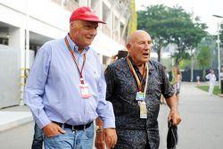 尼基·劳达, 梅赛德斯车队非执行主席,和斯特林·莫斯