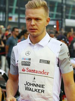 Kevin Magnussen, McLaren en el desfile