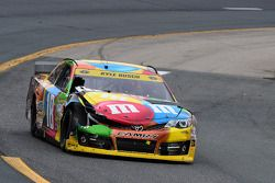 Wrecked car of Kyle Busch