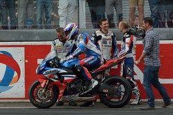 Race winner #1 Suzuki: Vincent Philippe, Anthony Delhalle, Erwan Nigon