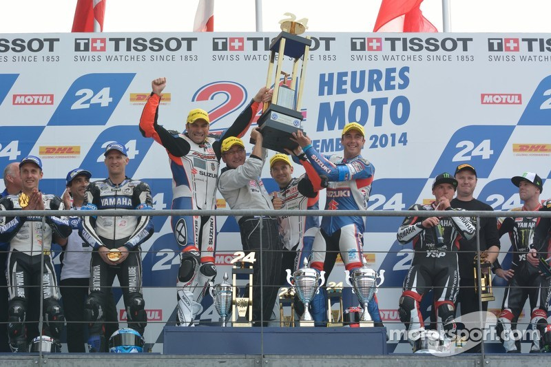 Podium: 1ers Vincent Philippe, Anthony Delhalle, Erwan Nigon, 2èmes David Checa, Kenny Foray, Mathieu Gines, 3èmes Broc Parkes, Michael Laverty, Sheridan Morais
