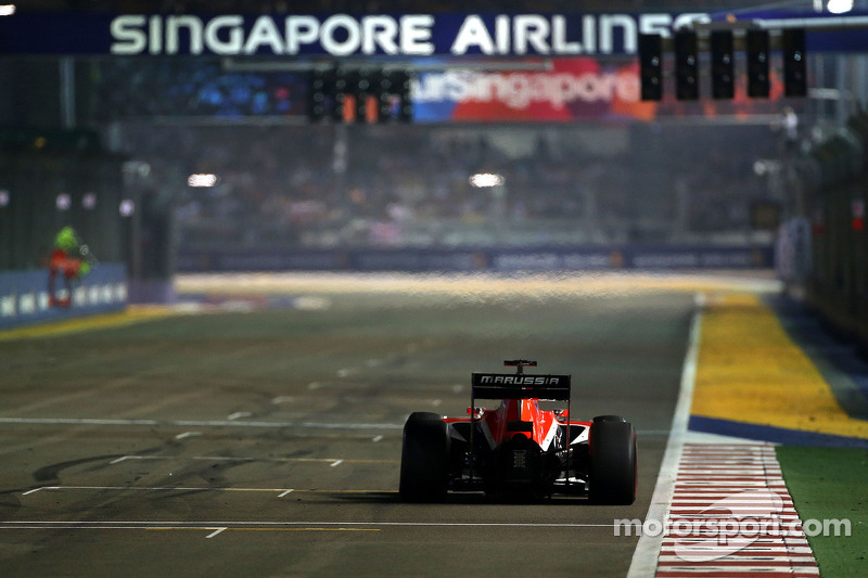 Жюль Бьянки. ГП Сингапура, Воскресная гонка.