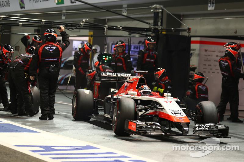 Jules Bianchi, Marussia F1 Takımı MR03 pit stop