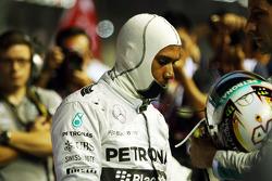 Lewis Hamilton, Mercedes AMG F1 en la parrilla