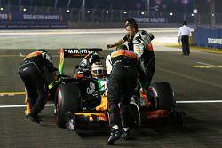 尼克·胡肯伯格, 印度力量F1 VJM07赛车,在起步线上