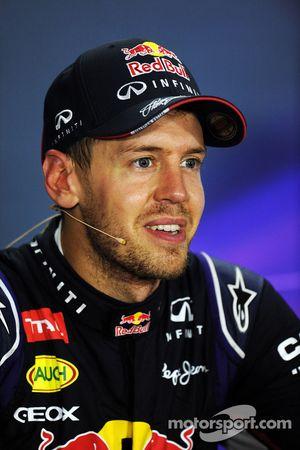 Sebastian Vettel lors de la conférence de presse FIA