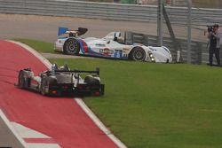 Trouble for #8 Starworks Motorsport ORECA FLM09: Mirco Schultis, Renger van der Zande