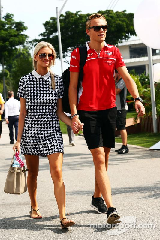 Max Chilton, Marussia F1 Team, com sua namorada Chloe Roberts