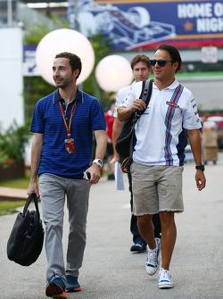 Felipe Massa, Williams; Nicolas Todt, Fahrermanager