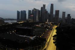 Der Stadtkurs in Singapur am Abend