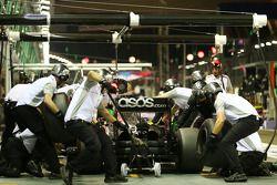 Jenson Button : Simulation d'arrêt au stand