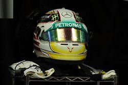 El casco de Lewis Hamilton, Mercedes AMG F1