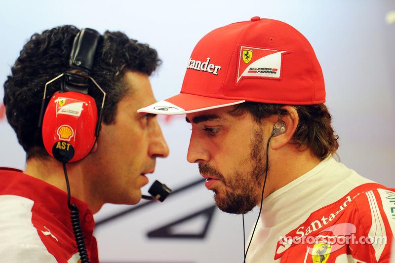 Andrea Stella, Ferrari ingeniero de carrera con Fernando Alonso, Ferrari