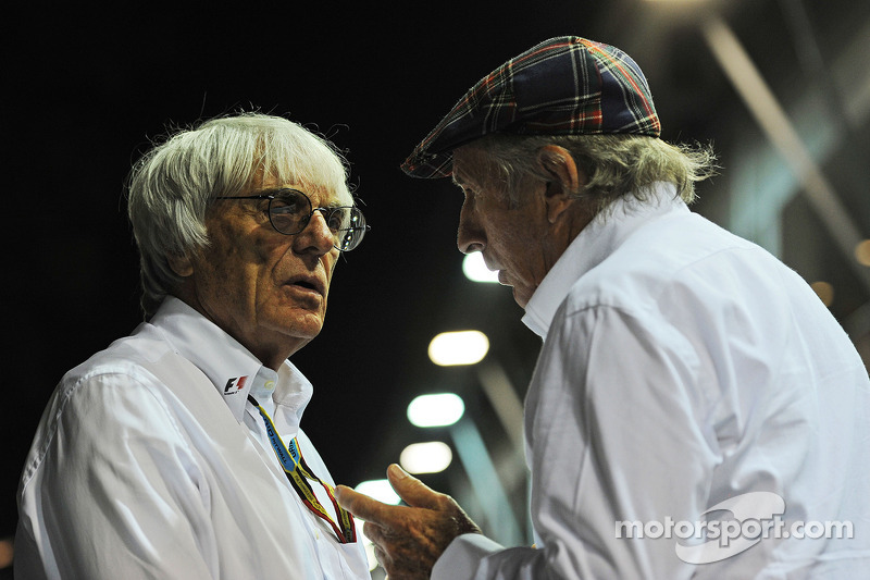 Bernie Ecclestone avec Jeackie Stewart