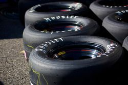 Race tires in paddock