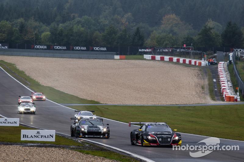 #4 Belgian Audi Club Team WRT Audi R8 LMS Ultra: Christian Kelders, Jean-Luc Blanchemain, Stéphane R