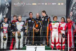 Pro Am podium: class winners Henry Hassid, Nick Catsburg, second place Anders Fjordbach, Vladimir Lu