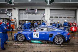 Pitstop: #14 Emil Frey Racing G3 Jaguar: Jonathan Hirschi, Gabriele Gardel, Fredy Barth, Emil Frey
