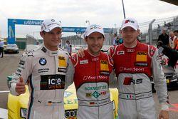 排位赛:第二名 Marco Wittmann, 宝马车队 RMG 宝马 M4 DTM, 第一名Mike Rockenfeller, 菲尼克斯奥迪运动车队 奥迪 RS 5 DTM, 第三名 Edoard