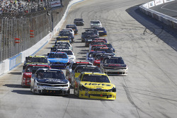 Restart: Joey Logano and Brian Scott lead