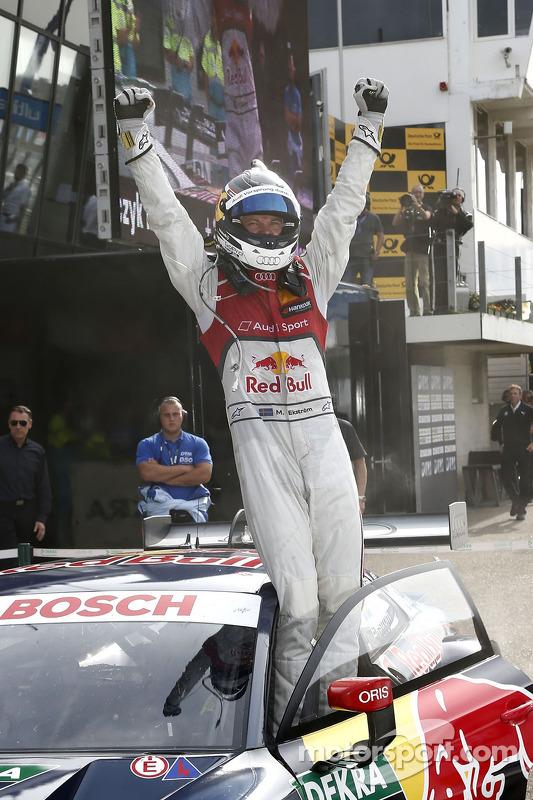 Vencedor da corrida Mattias Ekström, Audi Sport Team Abt Sportsline, Audi RS 5 DTM