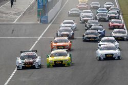 Start: Marco Wittmann, BMW Team RMG BMW M4 DTM and Mike Rockenfeller, Audi Sport Team Phoenix Audi RS 5 DTM lead