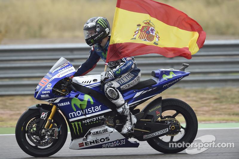 Jorge Lorenzo, Yamaha Factory Racing, en el GP de Aragón 2014