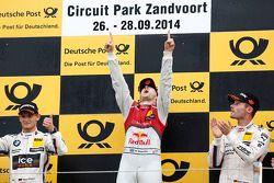 领奖台: 第二名 Marco Wittmann, 宝马车队 RMG 宝马 M4 DTM, 第一名Mattias Ekström, 宝马车队 Schnitzer 宝马 M4 DTM