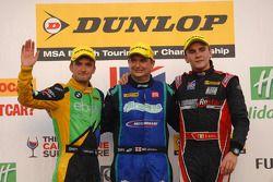 Round 27 Podium 1st Mat Jackson, 2nd Aron Smith, 3rd Colin Turkington