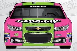 Danica Patrick special paint scheme for Breast Cancer Awareness