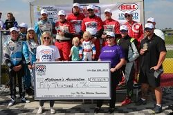Group photo with a cheque for $50,000 to go towards Alzheimer's research