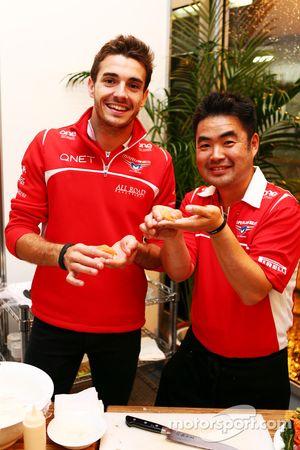 Jules Bianchi, Marussia F1 Team en la hora feliz del Marussia F1 Team