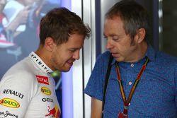 Sebastian Vettel avec Mark Thompson