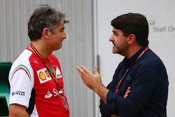 (L to R): Marco Mattiacci, Ferrari Team Principal with Luis Garcia Abad, Driver Manager of Fernando