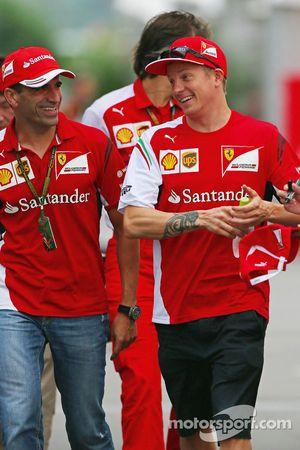 Marc Gene, Ferrari, Testfahrer; Kimi Räikkönen, Ferrari
