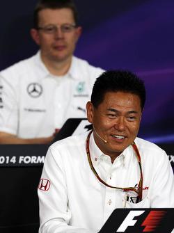 Yasuhisa Arai, Honda Motorsport, lors de la conférence de presse