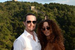 James Thompson, and Wife, Lada Granta 1.6T, LADA Sport Lukoil