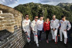 Les pilotes Citroën avec Yves Matton sur la Grand Muraille de Chine